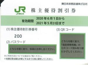 JR東日本 株主優待割引券 4枚★有効期限2022年5月31日まで延長★