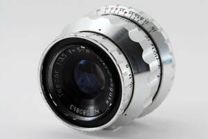 ■現状品■ 東京光学 TOKYO KOGAKU TOPCOR 50mm F2 シルバー #874