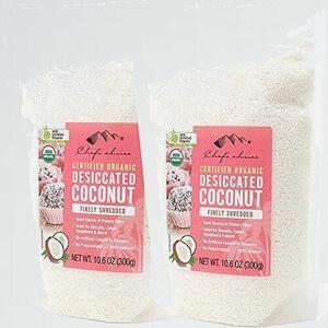 新品 未使用 オ-ガニックココナッツ シェフズチョイス Y-WV Fine (300g2袋) ファイン Organic desiccated Coconut