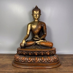 ◆旧蔵◆ 古美術 中国古玩 古銅製 金 仏像 釈迦牟尼 仏教 密宗 銅仏 賞物 置物 時代物 T11