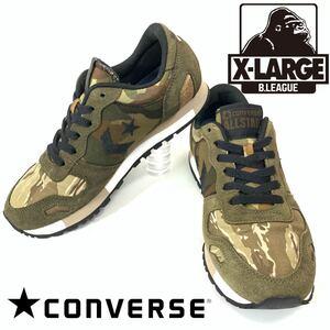 XLARGE × CONVERSE エクストララージ × コンバース XL CSR マルチカモフラージュ コラボ スニーカー  カモ柄 迷彩 24cm レディース