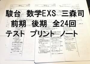 駿台 2014 数学EXS 前期 後期 全24回 プリント ノート 三森司