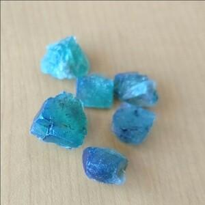 ◆強蛍光・送料込◆ イギリス ダイアナマリア鉱山産 フローライト原石セット 太陽光で色が変わる! 蛍石 ブルーグリーン s20