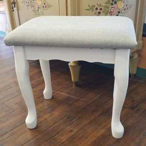 i0528r72 シンプルで使いやすいスツール 白家具 スツール 椅子 チェア 天然木 シンプル インテリア 家具 アイニ 猫脚 グレー