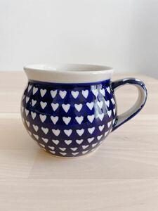 マグカップ ポーランド食器 ポーリッシュポタリー ボレスワヴィエツ ハートデザイン ハンドメイド マグカップ