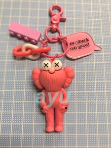 セサミ×カウズ 【ピンク】キーホルダー 可愛い セサミストリート KAWS kaws 韓国 バッグチャーム キーリング