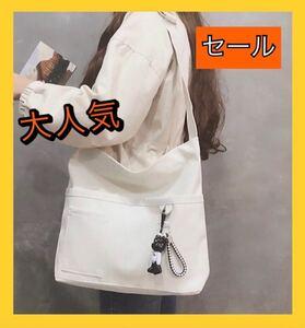 レディースバッグ ショルダーバッグ キャンバスバッグ ホワイト トートバッグ レディースバッグ