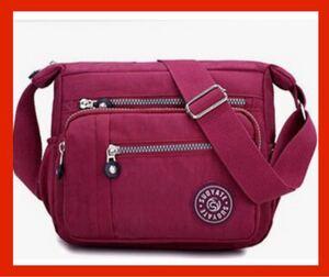 ショルダーバッグ 斜めがけ 軽量 レディースバッグ ボディーバッグ 赤 iPad 斜め掛け 多機能 斜めがけバッグ