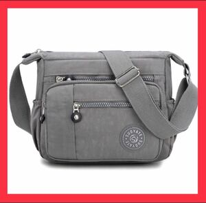 ショルダーバッグ 斜めがけ 軽量 レディースバッグ ボディーバッグ グレー iPad 斜めがけ 斜めがけバッグ