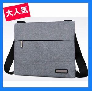 メンズバッグ ビジネスバッグ グレー ショルダーバッグ ボディーバッグ スーツ ショルダーバッグ 鞄 メッセンジャーバッグ