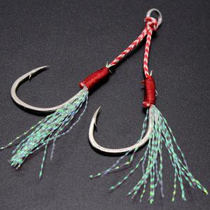 アシストフック ダブル メタルジグ フック 伊勢尼針 ルアー シーバス フラッシング 釣り 釣具 青物 20本セット Lサイズ