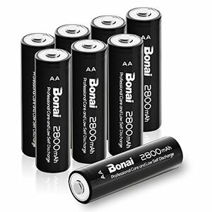 0c4508個パック 単3 充電池 BONAI 単3形 充電池 充電式ニッケル水素電池 8個パック(
