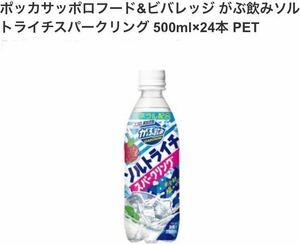 ポッカサッポロ がぶ飲みソルトライチスパークリング500ml24本