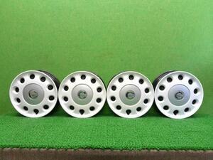 ミラココア DBA-L675S スチールホイール 4本セット 14インチ ホイールキャップ付