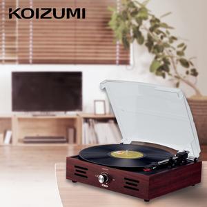 美雅品 【新製品】レコードプレーヤー KOIZUMI コイズミ (SAD-9804) スピーカー内蔵 レトロ レコード