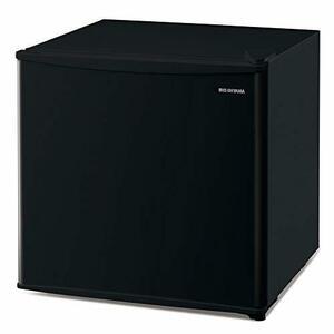 Black アイリスオーヤマ 冷蔵庫 45L 1ドア 小型 右開き 幅47.2cm ブラック IRSD-5A-B