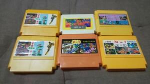 【レアソフトまとめ】海外版ファミコン in1 ソフト 6本まとめ売り お得ファミコンカセット 任天堂 マリオ Nintendo