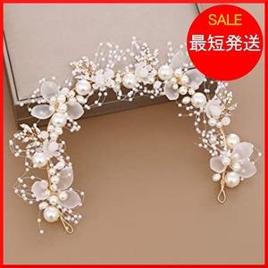 新品【在庫限り】 ホワイト Sitengle 髪飾り カチューシャ 子供 ヘッドドレス Ptpj0 パール 結婚式 7FKE