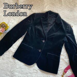 Burberry London バーバリーロンドン 大きいサイズ ベロア テーラードジャケット レディース 42 XL