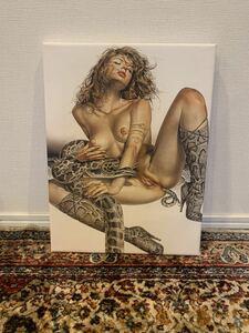 ヌード 裸婦 美人画 人体絵 空山基 Naga 鰐淵晴子 平凡社 西洋人物画 キャンバス枠装 浮世絵 美人 30x40cm