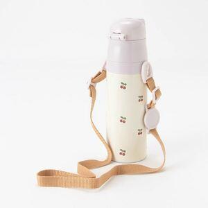 【新品未使用】petit main プティマイン ステンレスボトル 470ml 水筒 子供用 さくらんぼ