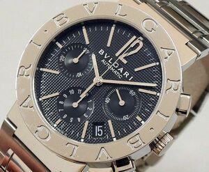 ☆1円~【美品】BVLGARI ブルガリ BB38SSCH 新型 クロノグラフ メンズ腕時計 自動巻