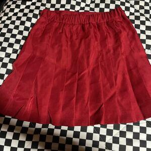 ウィゴー プリーツスカート 赤