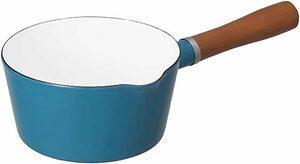 ターコイズ 16cm シービージャパン 片手鍋 ターコイズブルー IH対応 16cm ノルディカ ミルクパン ホーロー ALAW