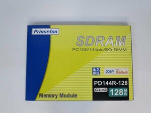 ** new goods unused **Princeton PD144R-128 128MB SO-DIMM SDRAM PC100 144pin*128MBx2 pieces set * total 256MB*