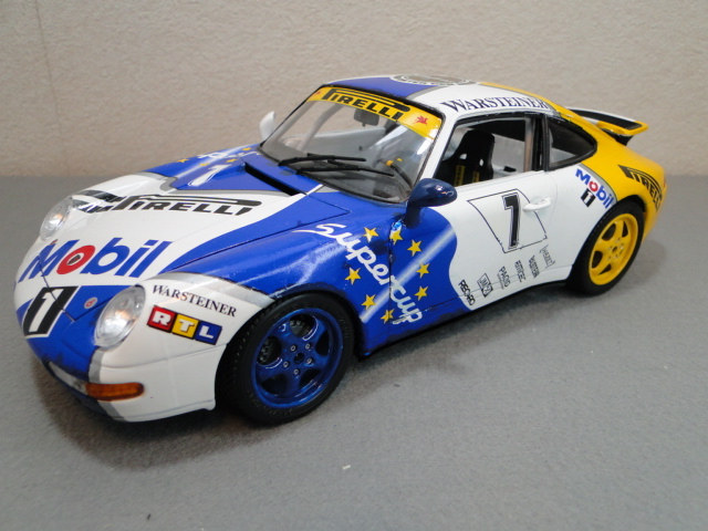 ブラーゴ 1/18 ポルシェ911(993)GT3スーパーカップ メタルキット組立品