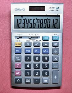 CASIO 電卓 JS-20DT 12桁