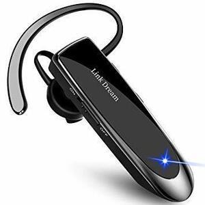 【期間限定】黒 Link Dream Bluetooth ワイヤレス ヘッドセット V4.1 片耳 日本語音声 マイク内蔵 O0UM