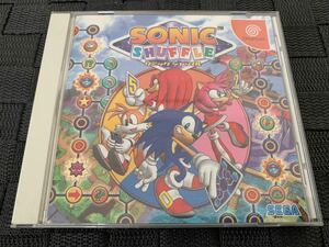 DCソフト ソニック シャッフル SONIC SHUFFLE ドリームキャスト DREAMCAST セガ SEGA 帯 ハガキ 一式揃い 送料込み Sonic the hedgehog