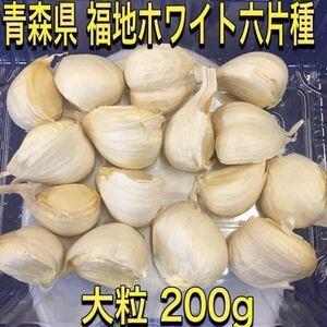 青森県 大粒 にんにく 福地ホワイト六片 200g