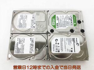 【1円】3.5インチ HDD まとめ売り 4点セット 未検品 3TB 2TB 500GB EC38-078jy/F3