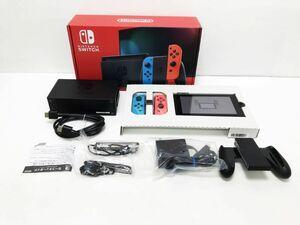 【1円】新型 Nintendo Switch Joy-Con(L) ネオンブルー/(R) ネオンレッド ゲーム機本体 初期化動作確認済み 1A1000-761e/F4