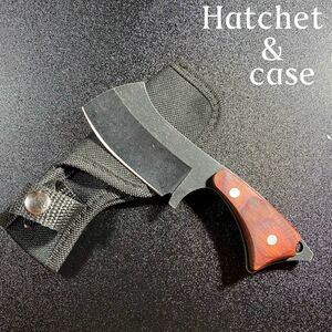 サバイバルナイフ 鉈 ケース付き!ハチェット バトニングナイフ 匿名配送!
