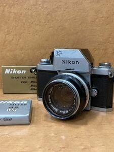 ☆Nikon/ニコン F フォトミックFTN + 非AI NIKKOR-S Auto 50mm F1.4 + シャッターケーブル AR-2 ♯354