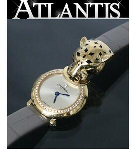 銀座店 カルティエ パンテール ダイヤ K18YG レディース 腕時計 パンサー イエローゴールド