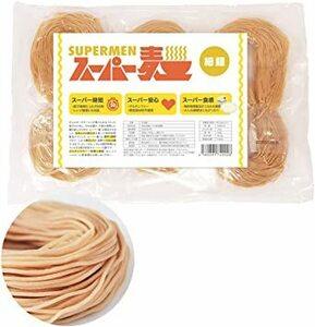 6個セット 【 SUPERMINE 】 スーパー麺 グルテンフリーパスタ 宮城県産ササニシキ使用 国産 6食 ( 細麺 :1食