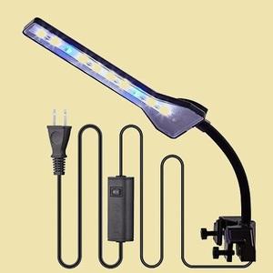 未使用 新品 水槽LEDランプ Anpet Q-7L クリップ式 2.9W アクアリウム 照明ライト LED白7枚+青2枚 長寿命 省エネ 水草育成