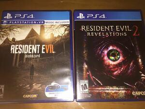 即決PS4バイオハザードRE2、7、オリジンズコレクション、リベレーションズ2北米版 海外版送料無料