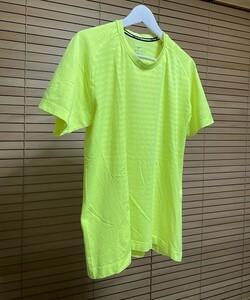 【激安1点のみ 国内正規品】NIKE RUNNING ナイキ ランニング DRI-FIT ドライフィット 半袖 Tシャツ XL イエロー系 蛍光色 USED
