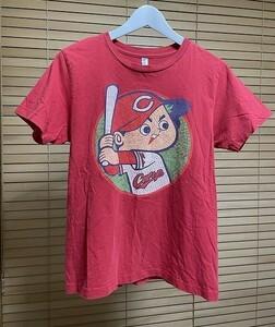 【激安1点のみ 国内正規品】 広島東洋カープ カープ坊や 半袖 Tシャツ S レッド系 USED
