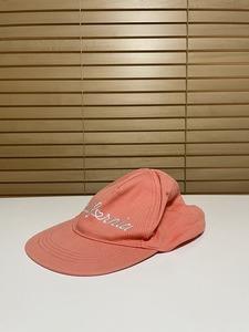 【激安1点のみ】ZARA accessories ザラ California キャップ 帽子 ピンク系 USED