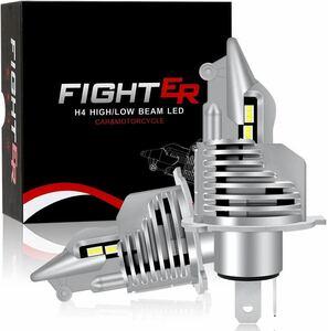H4 led ヘッドライト Hi/Lo 車/バイク 16000LM(8000LM*2) 54W(27W*2) 12V/24V車 ハイブリッド車・EV車対応 ホワイト 6500K LEDバルブ 2個入