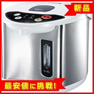 新品【最安即決!】3.2L TokyoDECO 電気ポット 3.2L 保温3段階 空焚き防止 シルバー 3RF82ENS