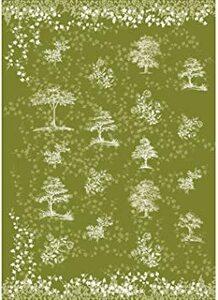グリーン SPICE OF LIFE(スパイス) 包装紙 ラッピングペーパー 薄葉紙 2枚セット グリーン 70×1