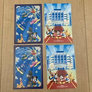 新品 東京ディズニーリゾート ディズニーアンバサダーホテル ポストカード 絵葉書 4枚