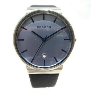 1円~最落なし スカーゲン SKW9009 クォーツ 時計 腕時計 メンズ☆0336